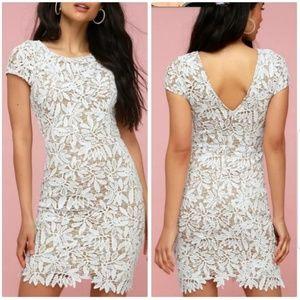 NWT Lovely white dress, bodycon lace dress sz:M